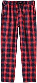 AIRIKE Pajamas for Women Loose Fit Open Legs Bottoms Cotton Comfy Loungewear Sets Lounge Bottom Plaid Pants with Pockets R...