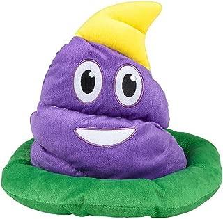 4E's Novelty Mardi Gras Poop Plush Emotion Hat, Great Party Favor Hat, Great Soft Plush Quality