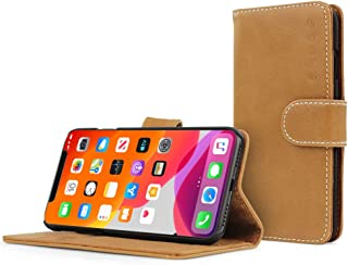 Best Snugg iPhone 12 Pro Max Wallet Case – Leather Card Case Wallet with Handy Stand Feature – Legacy Series Flip Phone Case Cover in Desert Camel Review