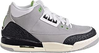 Jordan Nike Kids Air 3 Retro (GS) Lt Smoke Grey/Chlorophyll Basketball Shoe 6.5 Kids US