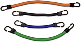 Bungee Cords   4-Pack   6, 10, 14, 18 Inch   Each with 6X Stretch   Each Can Replace Up to 7 Ordinary Bungees