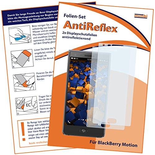 mumbi Schutzfolie kompatibel mit BlackBerry Motion Folie matt, Bildschirmschutzfolie (2X)