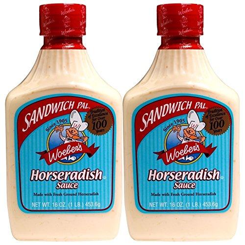 Amazon Com Woeber S Horseradish Sauce 2 16 Oz Horseradish Condiment Grocery Gourmet Food