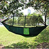 XHLLX 210t Nylon Camping Paracaídas al Aire Libre Hamaca Camping Doble Carga de Carga 200kg Primavera y Verano Jugar ecológico