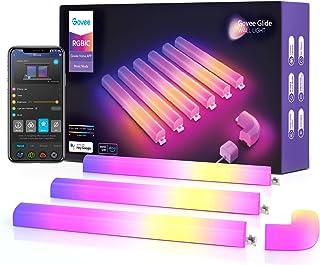 Govee Glide RGBIC چراغ دیواری ، چند رنگ قابل تنظیم ، Music Sync Home Decor LED Light Bar برای بازی و پخش جریانی ، با 40 صحنه پویا ، دستیار الکسا و گوگل ، 6 رایانه و 1 گوشه