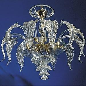 Elegant Plafón cristal dorado