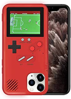 KOBWA Gameboy Case for iPhone,Retro 3D Gameboy Design Style Silicone Cover Case with 36 Small Games,Color Screen,Video Game Cover Case for iPhone 11/11Pro/11Pro,and More (Red, iPhone 11)
