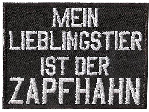 Mein Lieblingstier ist der Zapfhahn, Heavy Metal, Biker, Spruch, Aufnäher, Patch