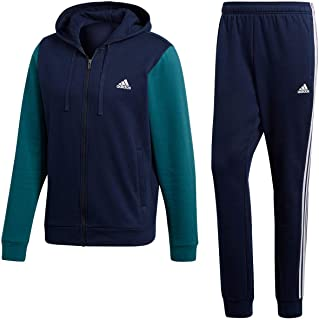 399447a1f69e Adidas Men s Energize Track Suit 3 Stripes Hoodie Tracksuit Blue Black