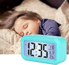 Suntop Alarm Clock LED smart night light Digital Clock with Snooze Simple to Operate for Bedrooms Easy Use Clock for Kids ...