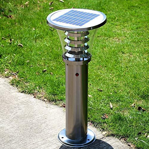 Roestvrij stalen palen op zonne-energie, bescherming tegen roest, voor in de open lucht, regenveilige binnenplaats, landschapsverlichting, tafelplaat, tuinpad, licht geleide spleten lamp