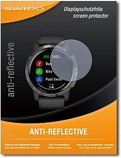 antigraffio Pellicola proteggi schermo in vetro temperato per Garmin vivoactive 4S alta durezza Swido 2 pezzi antiriflesso 40 mm