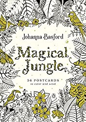 magical jungle coloring postcards Johanna Basford