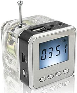 Haoponer Portable Mini Digital Display Screen Speaker USB Flash Drive Micro SD/TF Card Music MP3 Player FM Radio Black
