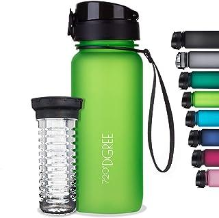 "720°DGREE Drinkfles""uberBottle"" +Vruchteninzet - 350ml, 500ml, 650ml, 1l, 1.5l - Waterfles BPA-Free, Lekvrij - Sportfles v..."