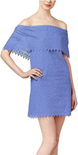 Womens Off-The-Shoulder Eyelet Party Dress