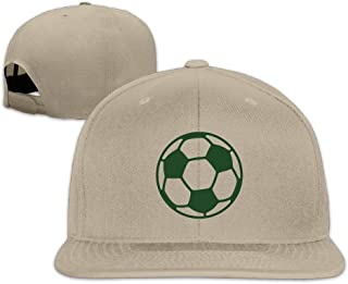 Snapbacks Green Soccer Ball Flat Bill Visor Hat Sports Baseball Caps One Size