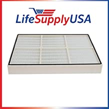 LifeSupplyUSA Replacement True HEPA Filter Compatible with Sears Kenmore Whispure Models 83375, 83376 with Plastic Frame