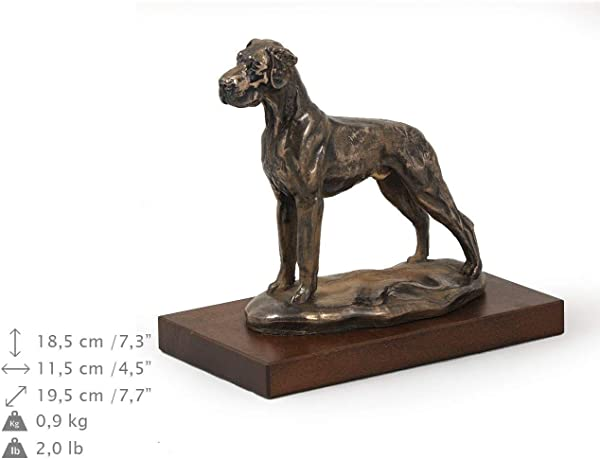 Great Dane Uncropped Dog Figure Statue On Woodenbase Limited Edition Artdog