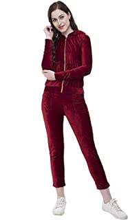 LimeScotch Women's Fitness Workout Clothing Slim LeggingsTracksuit(XXS Size) Maroon
