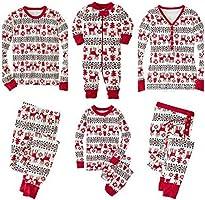 WOOKIT Bijpassende Kerst Pyjama Familie Set Vakantie Pjs Bijpassende Koppels Kinderen 2 Stuks Warme Kleding Nachtkleding