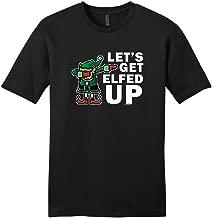 ThisWear Dabbing Santa's Elf Let's Get Elfed Up Young Mens T-Shirt