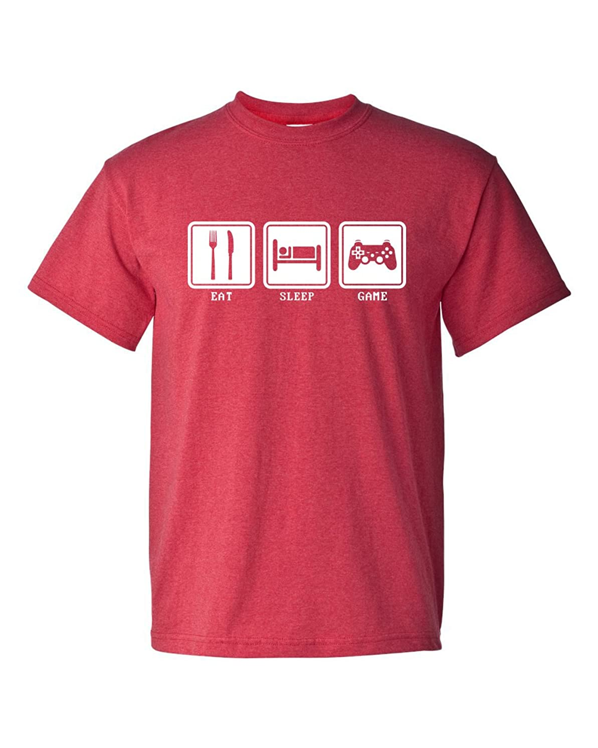 Eat Sleep Game Video Games Controller Gamer Funny Adult Men's T-Shirt