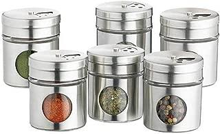 OXO KCSPJARSET Stainless Steel Spice Jars, One Size, Gray