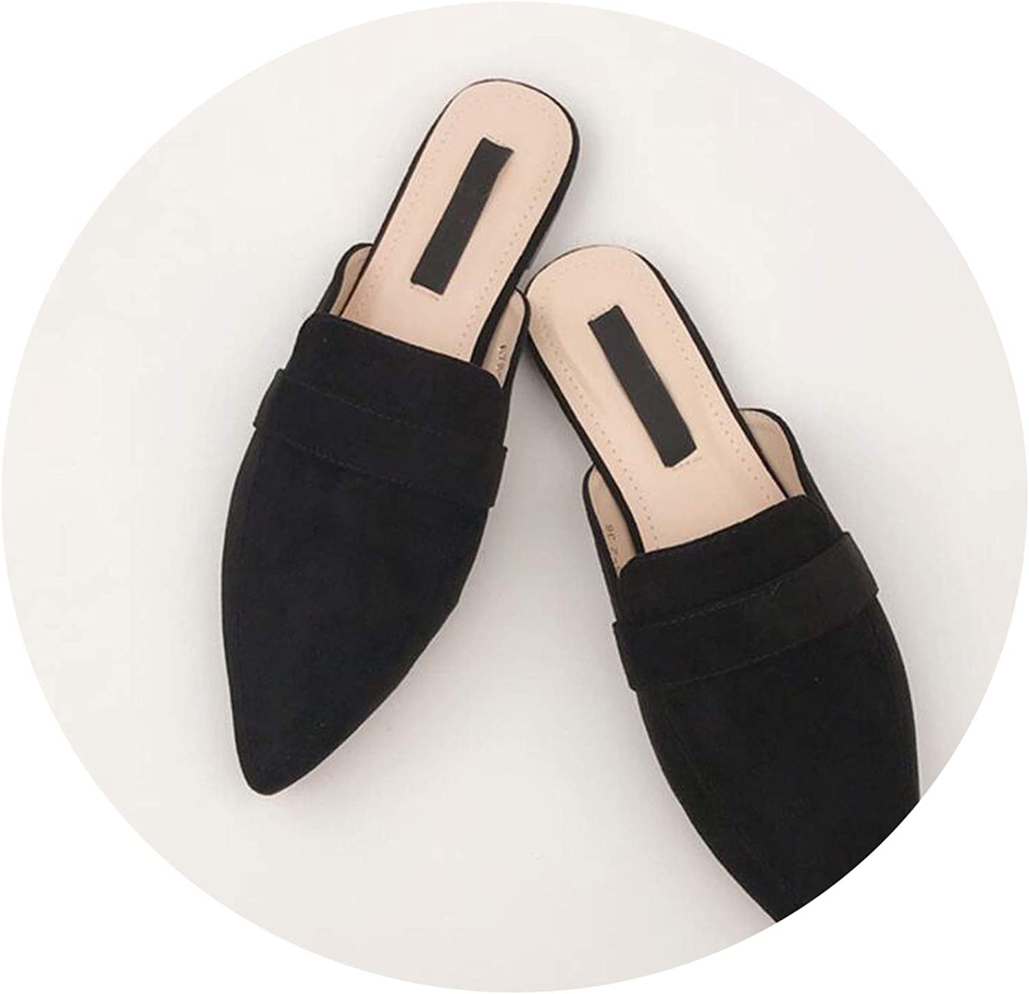 Monicas-house Summer Flats Mules Lady Sandals Slippers Serpentine Slip On Pointed Toe Women Mules Outdoor Slipper shoes Woman Slides