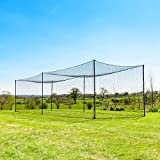 35' Ultimate Baseball Batting Cage [Net & Poles Package] - #42 Heavy Duty Net with Steel Uprights [Net World] 24hr Ship (01. Ultimate Batting Cage)