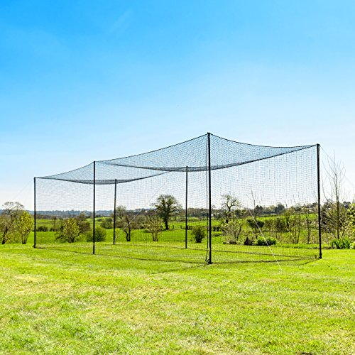 35' Ultimate Baseball Batting Cage [Net & Poles Package] - #42 Heavy Duty Net with Steel Uprights [Net World] 24hr Ship (01. Ultimate Batting Cage)