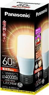 パナソニック LED電球 口金直径26mm 電球60W形相当 電球色相当(8.4W) 一般電球・T形タイプ 密閉形器具対応 LDT8LGZ60SW
