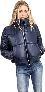 Ladies Girls Short Padded Puffa Puffer Bubble Bomber Jacket US Size 4-10