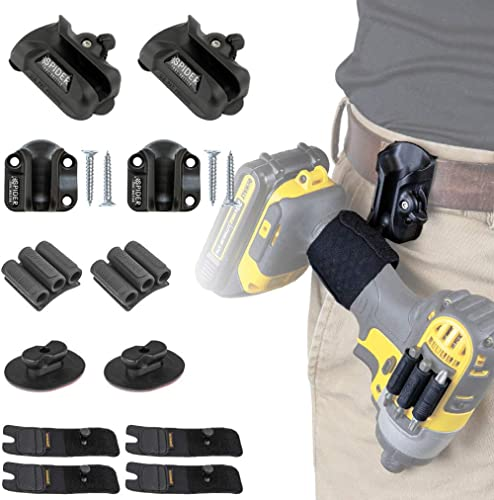 SPIDER Tool Holster Pro Tool Kit - 12 Piece Kit for Storing and Organizing Tools