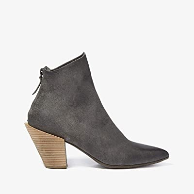 Marsell Stack Heel Suede Boot (Grey/Natural) Women