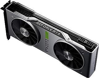NVIDIA GeForce RTX 2070 Super Founders Edition - Tarjeta gráfica (8 GB, memoria GDDR5 de 1770 MHz, 2560 Cores, DP/HDMI/DVI-DL, Ray Tracing, DirectX 12, VR Ready)