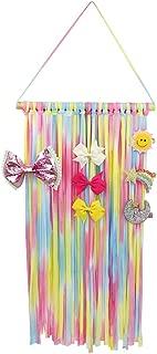 Beinou Hair Bow Holder Organizer Storage Rainbow Hair Clips Hanger for Girls