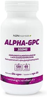 Alpha-GPC de HSN | 300mg de L-Alfa-Glicerilfosforilcolina | Fuente de Colina | Máximo Rendimiento Cognitivo | Vegano, Sin Gluten, Sin Lactosa, 120 Cápsulas Vegetales