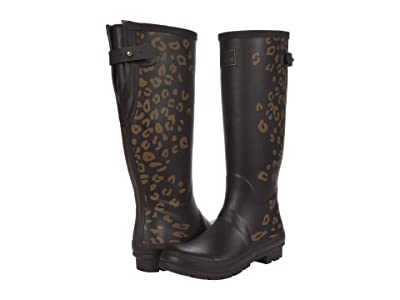 Joules Welly Print (Brown Leopard) Women