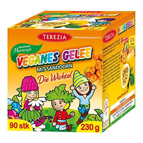 TEREZIA Multivitamine Maracuja Vegane Gelee-Drops/Gummibärchen für Kinder, enthaltet Sanddorn und 9 verschiedene Vitamine. Ohne jegliche chemische Zusatzstoffe, Konservierungsmittel und Farbstoffe