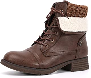 Moda Chics Fashion Ankle Boots for Women Combat Boots
