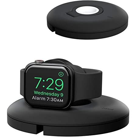 PZOZ Charger Stand Compatible for Apple Watch, Portable Charging Station Cable Management Dock Holder Organizer for iWatch with Band Series 6 SE 5 4 3 2 1 44mm, 42mm, 40mm, 38mm Accessories (Black)