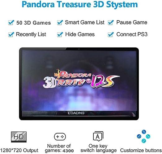 GWALSNTH 3D Pandora Box 12S Arcade Juegos Console, 4300 en 1 Videojuegos,  Joystick y Botones Arcade Juegos Máquina para el Hogar, Videojuegos con ...