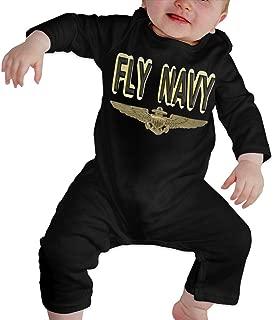 Wings of A Naval Aviator Baby Onesie Organic Long-Sleeve Bodysuit
