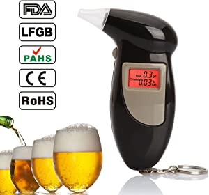 Yeshi Professional Breathalyzer  Portable Digital LCD Breath Alcohol Tester Analyser