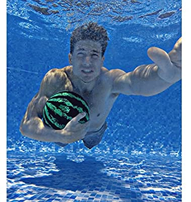 Watermelon Ball – The Ultimate Swimming Pool Game | Pool Ball for Under Water Passing, Dribbling, Diving and Pool Games for Teens, Kids, or Adults | 9 in. Ball Fills with Water by Watermelon Ball LLC