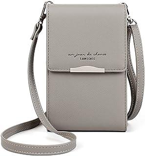 Katech Damen Kleine Umhängetasche, Multifunktionale Handytasche Citytasche Schultertasche mit Vielen Fächern und Kartenfäc...