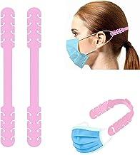 TBOC Verstelbare Maskerverlengingshaak - [Pack 2 Eenheden] Extender Haken [Roze] Siliconen Hook met Grepen Anti-Aanspannin...