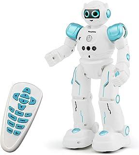 Threeking RC اسباب بازی ربات برای کودکان و نوجوانان قابل برنامه ریزی ربات حسگر هوشمند برای کودکان هدیه تولد هدیه تولد برای کودکان و نوجوانان صدای مرد