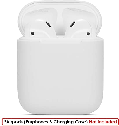WOW Imagine Shock Proof Protective Silicone Case Cover Sleeve Skin for Apple AirPods Wireless Headphone Charging Case Cover Box - White